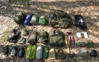 Снаряжение для выживания в тайге