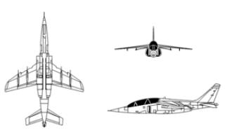 Легкий штурмовик Alpha Jet (Германия)