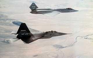 Тактический истребитель YF-22 ВВС США